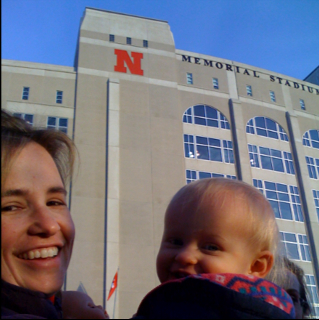 Lily's First Husker Game
